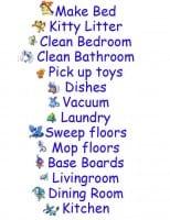Chores chart printable tags list