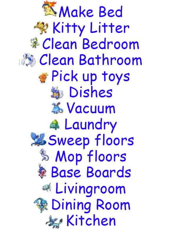 Kids Chore Chart with printable labels included!