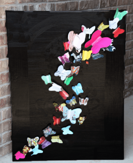 Here S A Fun Craft Project Made From Magazines Upscaled Wall Art