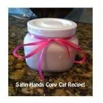 Homemade Sugar Scrub Recipe!  Just like Mary Kay's Satin Hands!!!