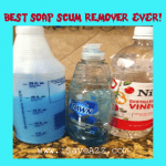 Best Homemade Soap Scum Remover EVER!!! Only 2 ingredients!