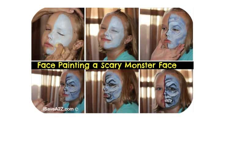 Scary Monster Face tutorial