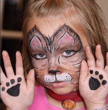 Kitty Face Painting idea for kids