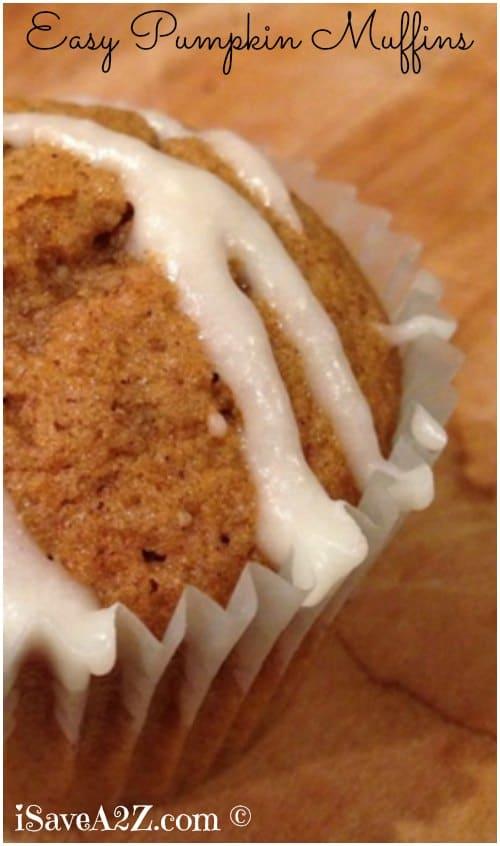 Easy Pumpkin Muffins recipe from scratch