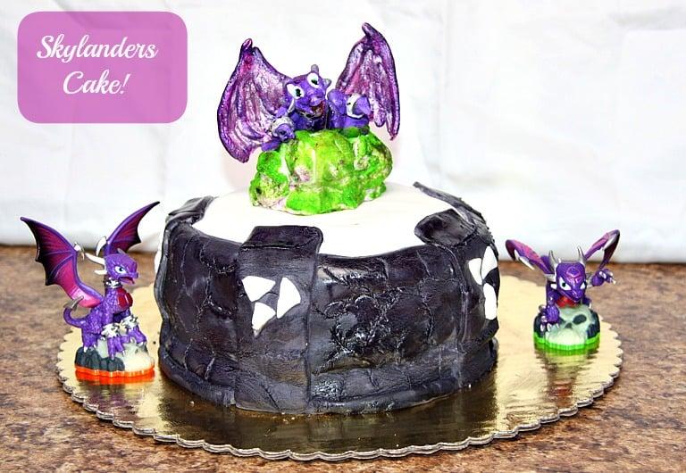 Skylanders portal cake