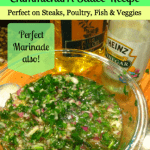 Chimichurri Sauce Recipe:  Adds tons of flavor to Steaks, Poultry, Fish & Veggies!
