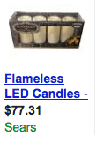 Flameless LED Candles Sears