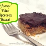 Paleo Diet:  Chocolate Almond Butter Bar No Bake Recipe