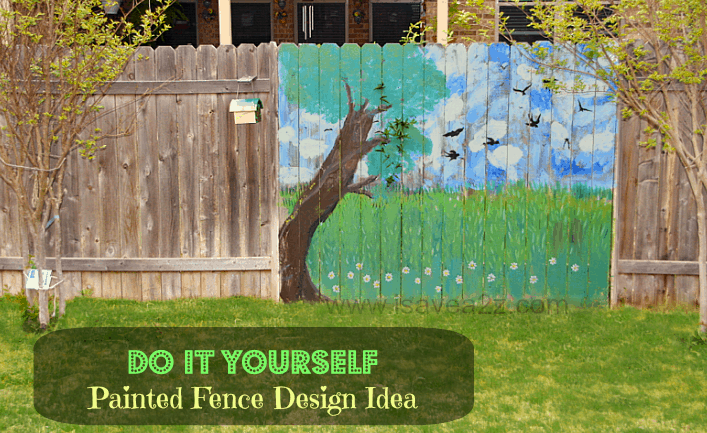 Painted Fence Ideas Backyard Decorating Design