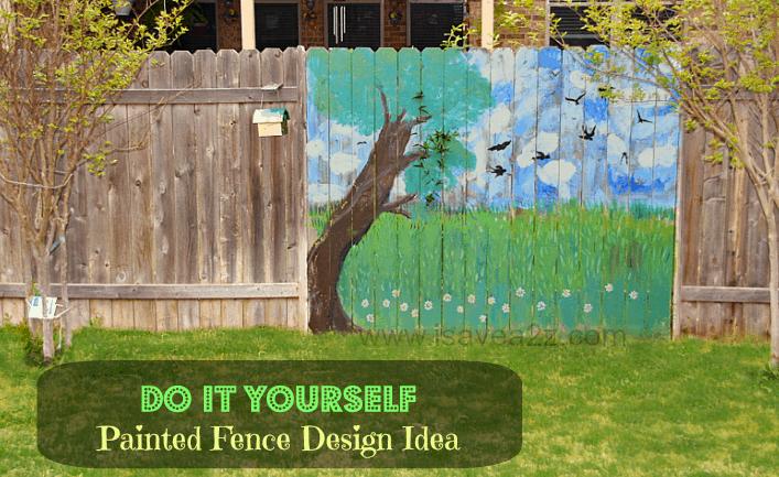 Painted Fence Ideas Backyard Fence Decorating Design Isavea2z Com
