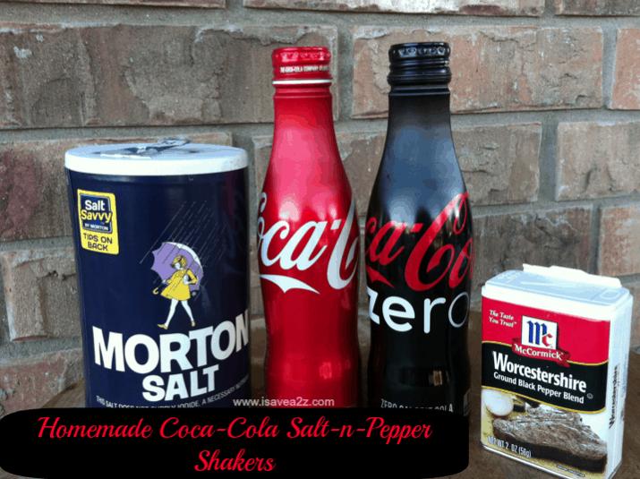 Homemade Coca Cola Salt N Pepper Shakers Isavea2z Com