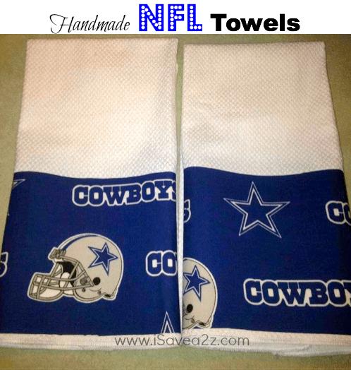 handmade nfl towels