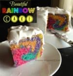 Rainbow Cake Recipe and Tutorial