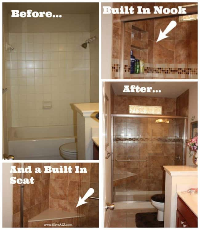 Bathroom remodel tub to shower project for Bathroom ideas reddit