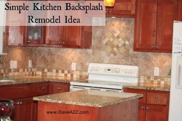 Easy kitchen backsplash 28 images simple kitchen for Cheap easy kitchen backsplash ideas