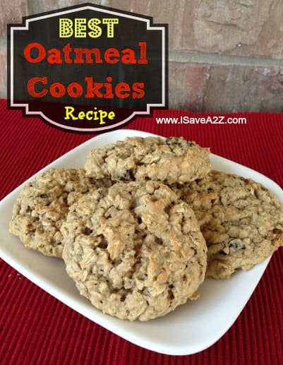 Best Oatmeal Cookies Recipe (Soft and Chewy) - iSaveA2Z.com