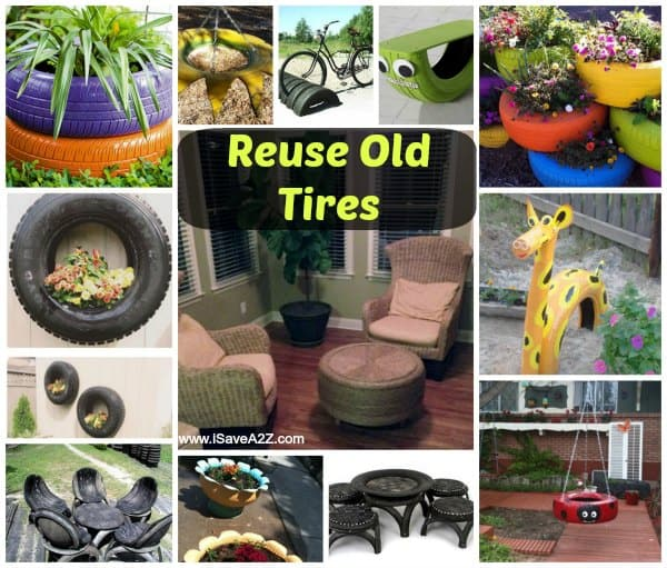 Reuse old tires Things to make out of old tires