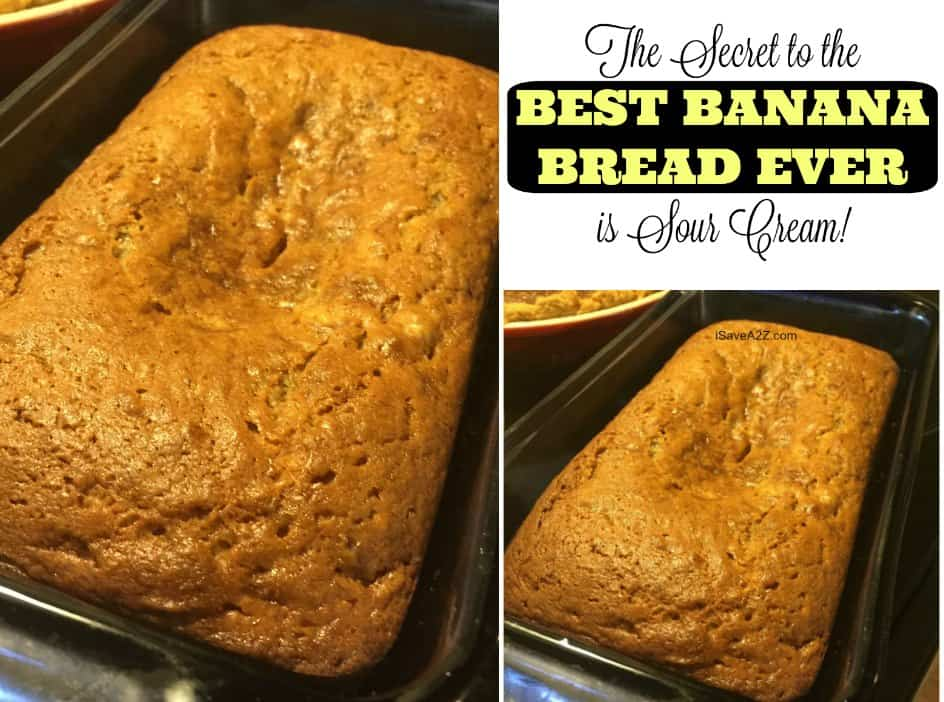 The Secret to AMAZING Banana Bread is Sour Cream!!