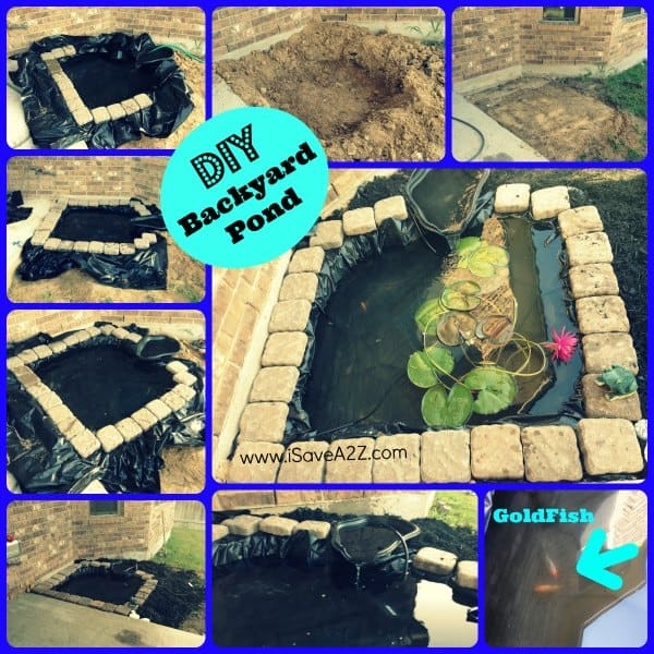 Diy easy backyard pond design idea for Building a backyard pond