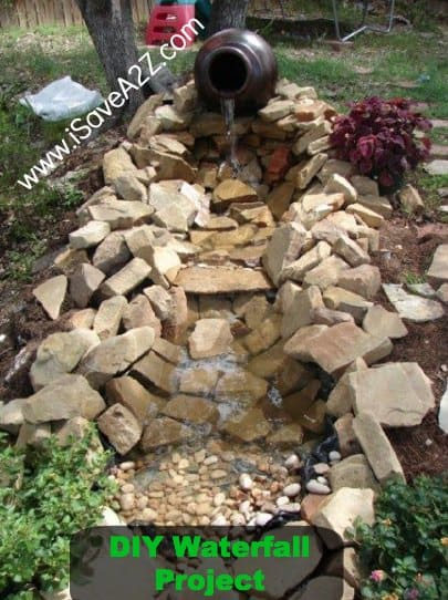 Diy easy backyard pond design idea isavea2z diy easy waterfall project design solutioingenieria Images