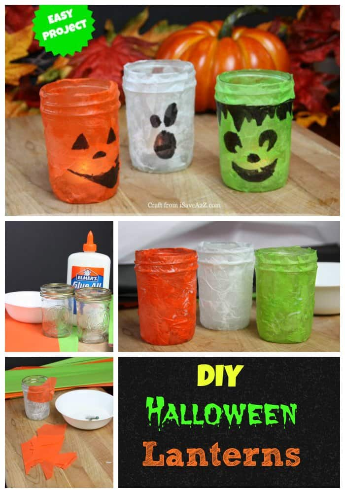 DIY Halloween Lanterns collage