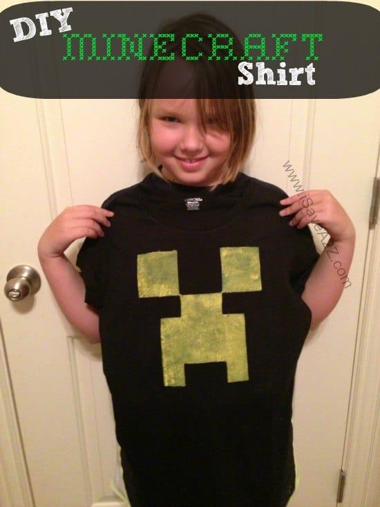 DIY Minecraft Creeper Shirt Tutorial