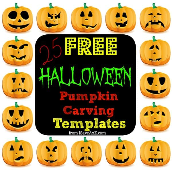 25 easy free halloween pumpkin carving templates isavea2z com