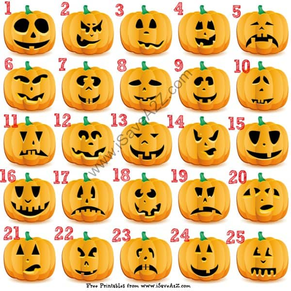 Free Halloween Pumpkin Carving Tremplates