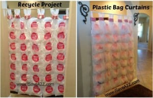 Recycle Project:  Plastic Bag Curtains