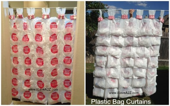 Recycle Project Plastic Bag Curtains