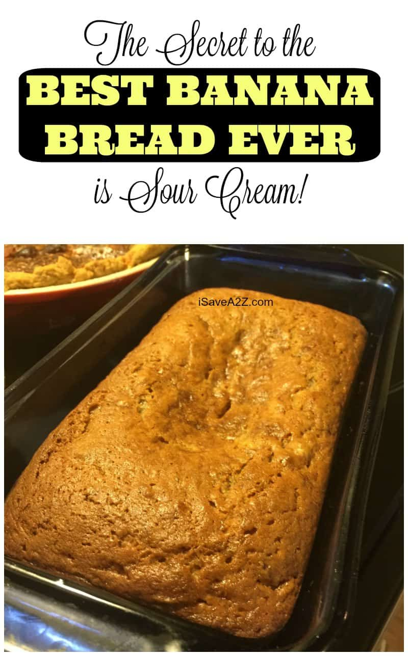 The Secret to the BEST BANANA BREAD EVER is Sour Cream