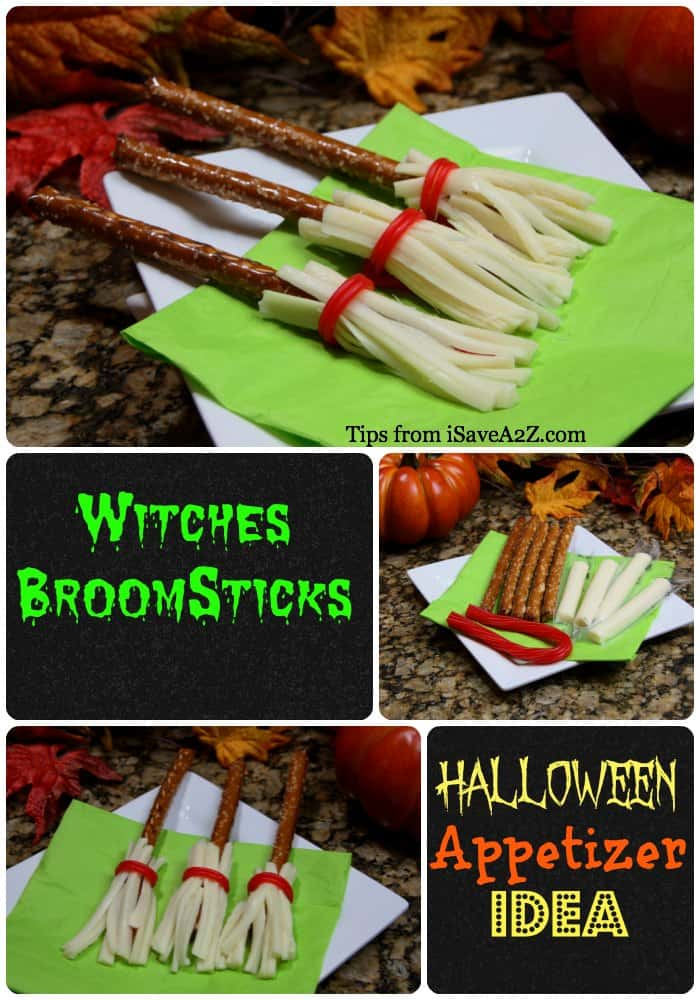 Halloween Appetizer Ideas: Witches Broomsticks and Cauldrons