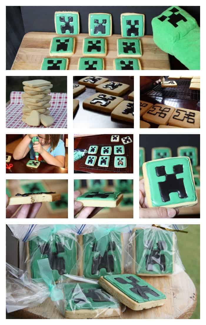 Easy Minecraft Creeper Cookies Tutorial