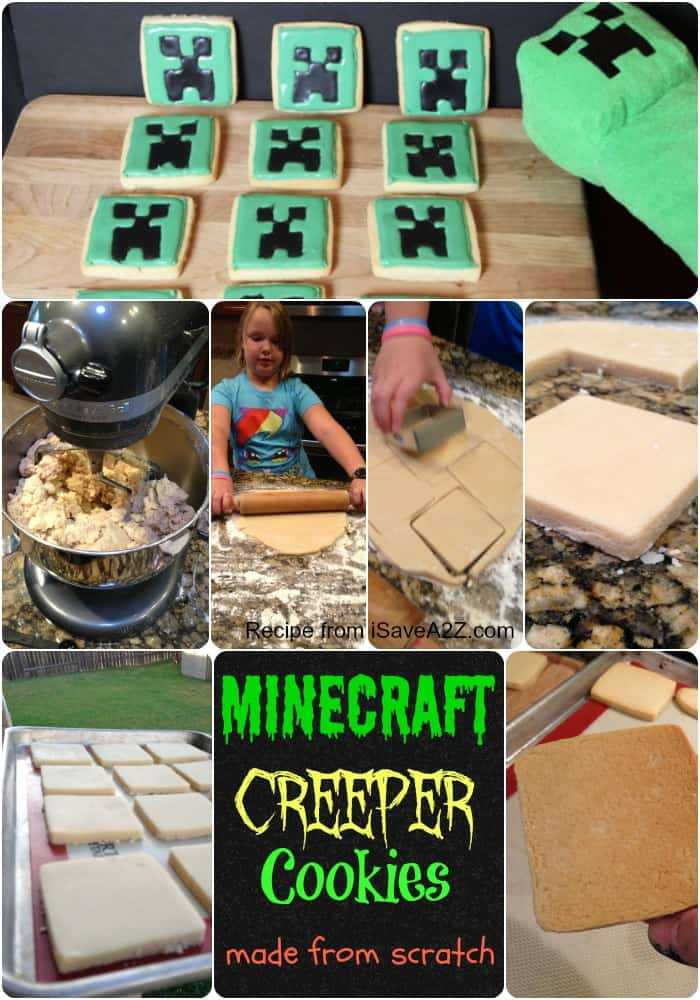 Easy Minecraft Creeper Cookies