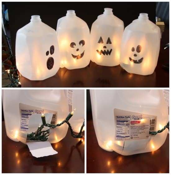 halloween milk jub ghosts project - Milk Carton Halloween Ghosts