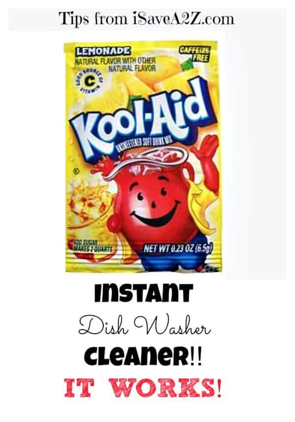 Kool Aid as an Instant Dish Washer Cleaner