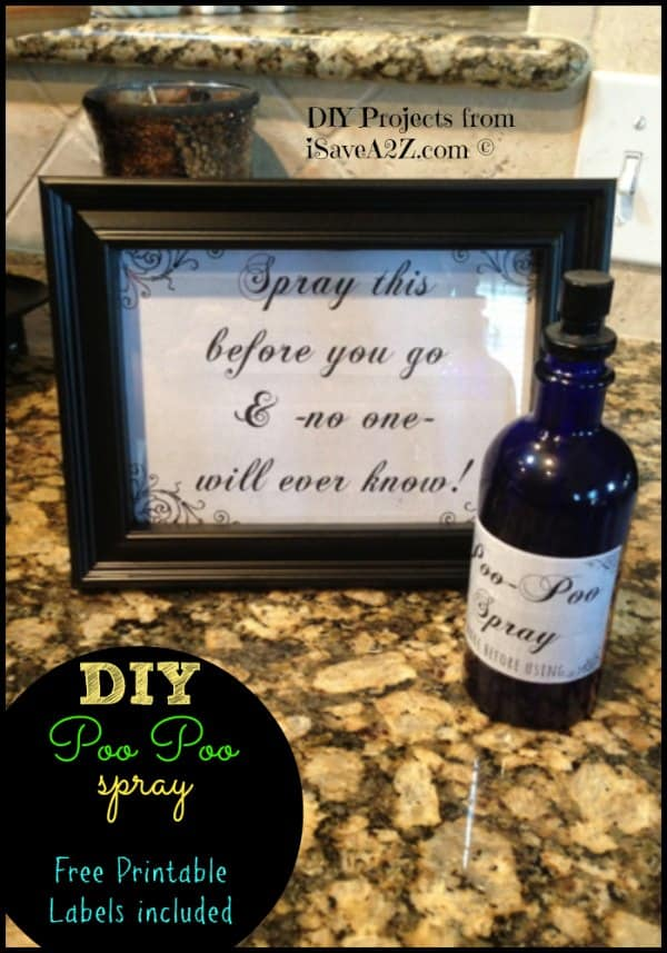 DIY Poo Poo Bathroom Spray