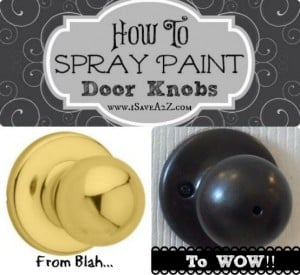 How To Spray Paint Door Knobs