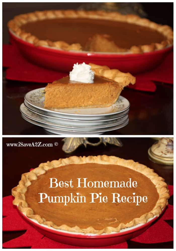 Super Easy And Part Homemade Pumpkin Pie Recipe Isavea2z Com