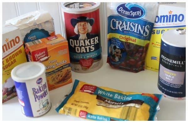 Cookies in a Jar Ingredients needed