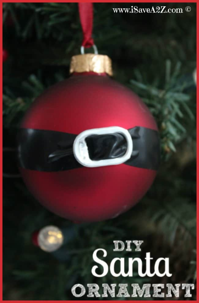 DIY Santa Ornament Craft Idea - iSaveA2Z.com