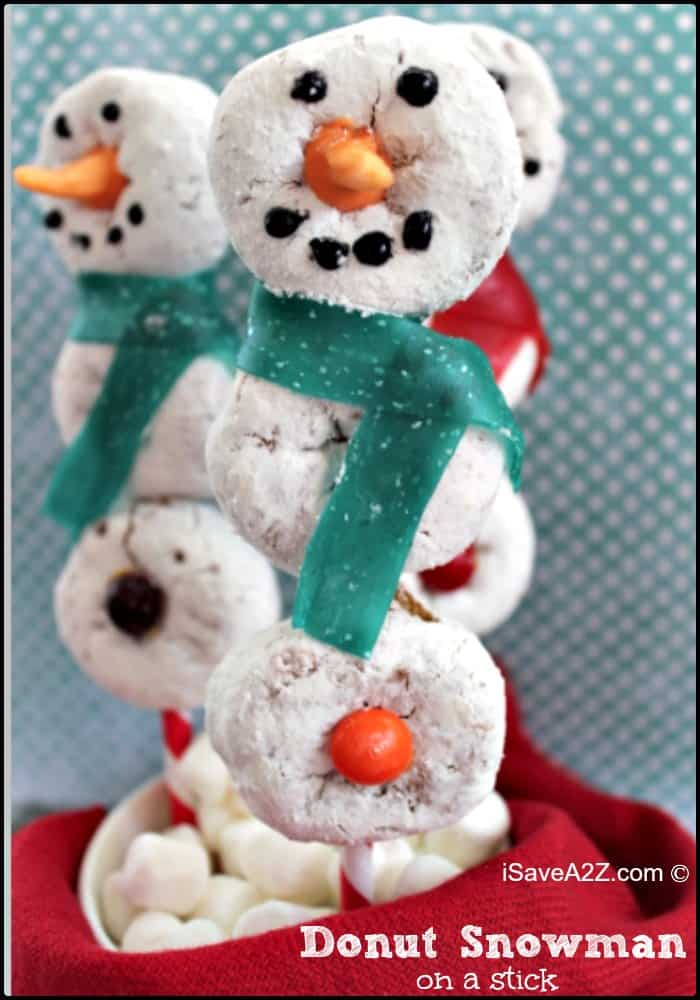 Donut Snowman on a stick