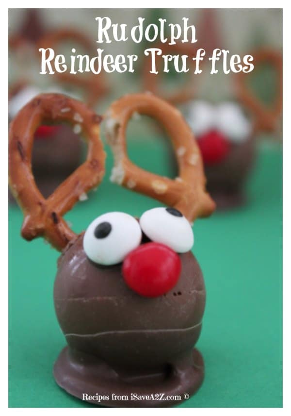 Easy Christmas Treats Idea: Rudolph Reindeer Truffles ...
