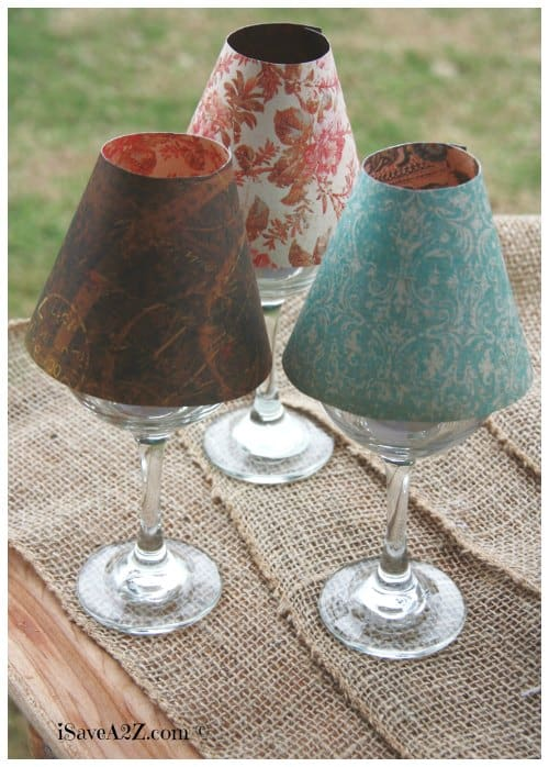 Wine glass lamp shade diy project for Wine cork lampshade