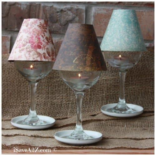 Wine glass lamp shade diy project isavea2z wine glass lamp shade diy project free template included mozeypictures Image collections