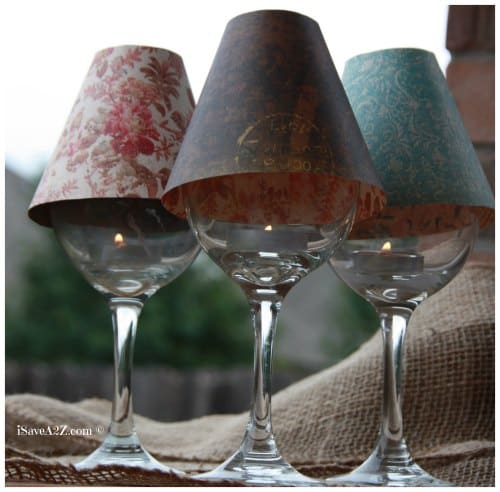 Wine glass lamp shade diy project isavea2z wine glass lamp shade diy project free template included aloadofball Image collections