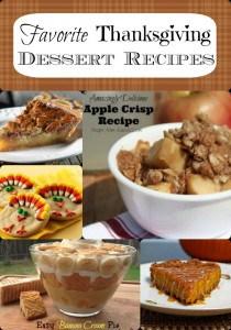 Favorite Thanksgiving Dessert Recipes