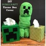 DIY Minecraft Tissue Box Cover  #KleenexTarget #pmedia