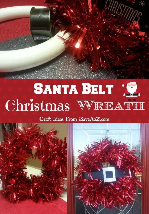 Santa Belt Christmas Wreath - Only 4 supplies needed!