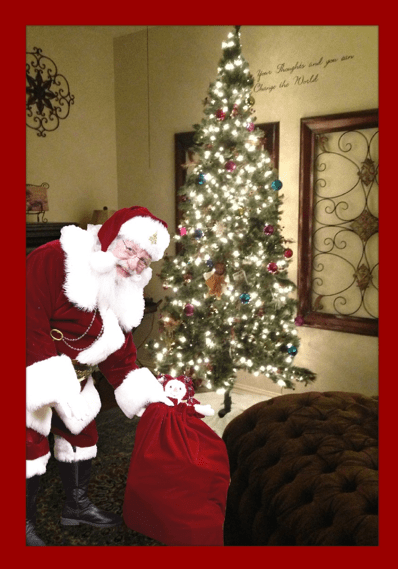Attractive Hereu0027s Is Our Photo Of Santa In My Living Room, Near My Christmas Tree!!!